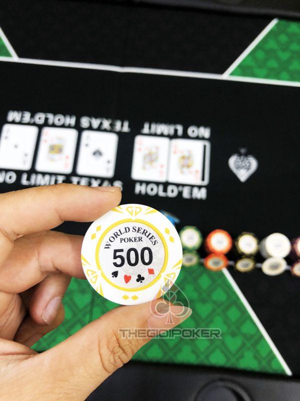 chip poker clay wsop mệnh giá 500 rất đẹp