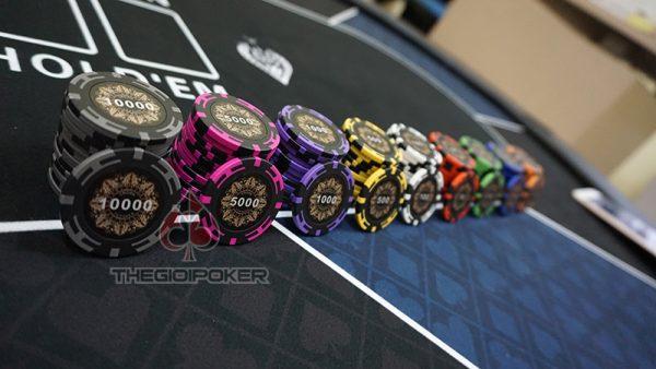 chip poker set có số clay cao cấp