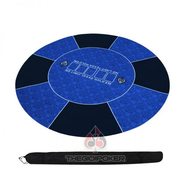 Thảm poker cao su cao cấp màu xanh da trời cực đẹp chơi được từ 6 đến 8 người