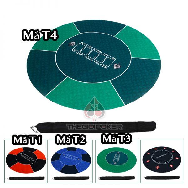thảm poker cao su cap cấp màu xanh lá cây làm từ chất liệu cao su rất đẹp